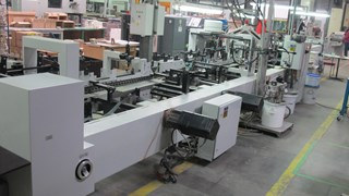Folding gluing Bobst Media 100 II Folder Gluers