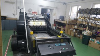 Heidelberg Cylinder SBB  with hot foil stamping