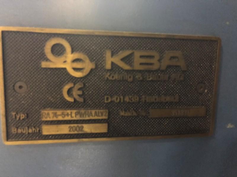 2002 KBA Rapida RA74-5 L CX PWHA ALV2