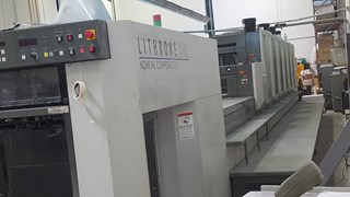 2007 Komori Lithrone LS640 + CX 单张纸胶印机