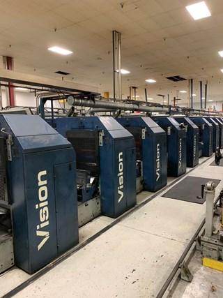 "1999 Drent Vision 20"" Width (10) Unit Variable Cutoff UV Press Prensas Rotativas Comerciales"
