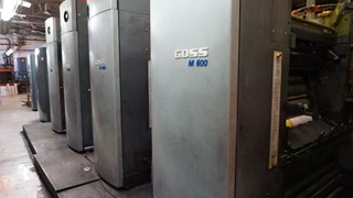 "2005 Goss M600A (4) Unit (1) Web Press System 22.75"" (578mm) Cutoff Akzidenzmaschine"