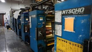 Hantscho Mark 6-A1 (6) Unit (2) Web Offset Press Heatset