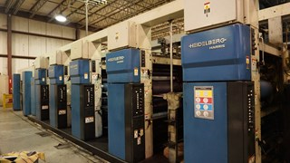 "1998 Heidelberg M1000BE (5) Unit Web Press System 22.75"" (578mm) Cutoff Prensas Rotativas Comerciales"