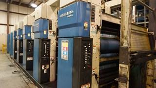 "1998 Heidelberg M1000BE 5 Unit 1 Web Press System 578 mm / 22.75"" Cutoff Heatset"