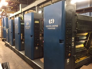 "1997 Heidelberg M130 (4) Unit Web Press System 22.75"" (578mm) Cutoff Akzidenzmaschine"