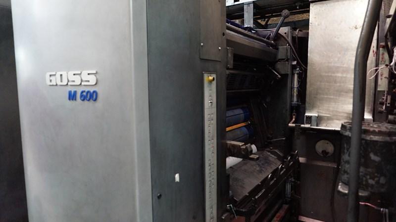 """2005 Goss M600A (4) Unit (1) Web Press System 22.75"""" (578mm) Cutoff"""