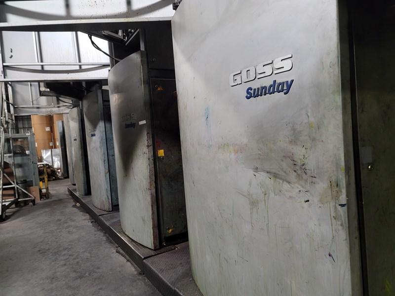 "2005 Goss Sunday 4000 (4) Unit Web Offset Press System 22.25"" (565mm) Cutoff"