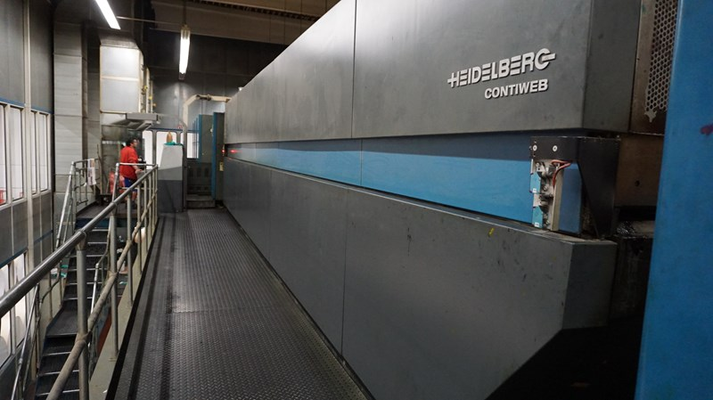 """1998 Heidelberg Harris M600 B24 (8) Unit 4 x 4 Stacked Press 578mm / 22.75"""" Cutoff"""