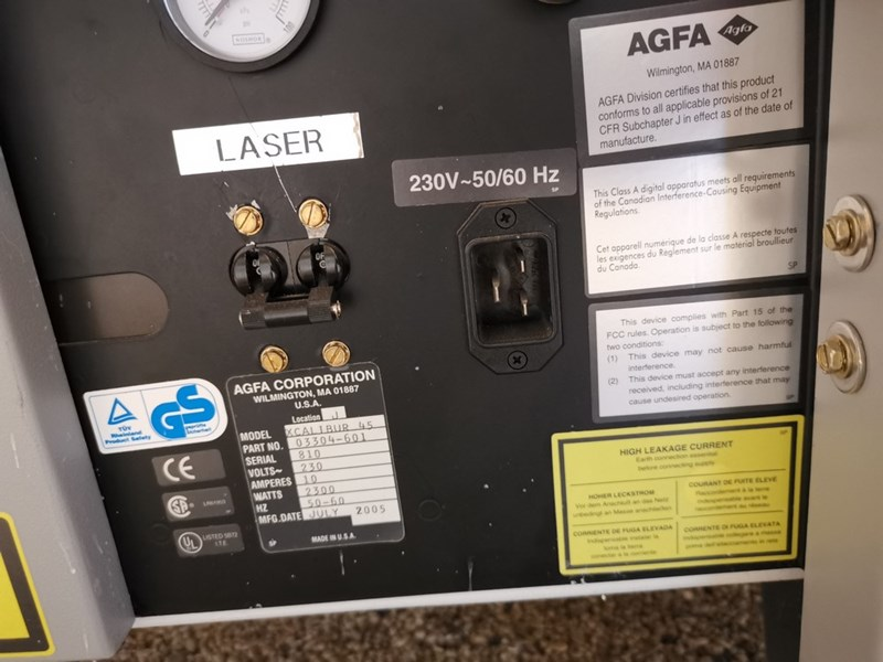 Agfa CTP Machine year 2005