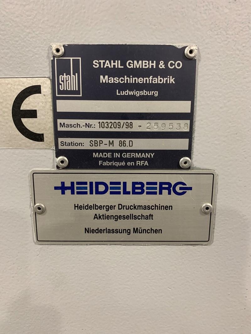 1998  Heidelberg SBP-M 86.D