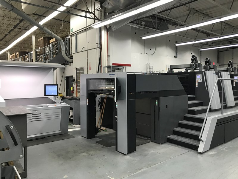 2017 2017 Heidelberg XL 106-4P 2/2 Almost New Very low impressions