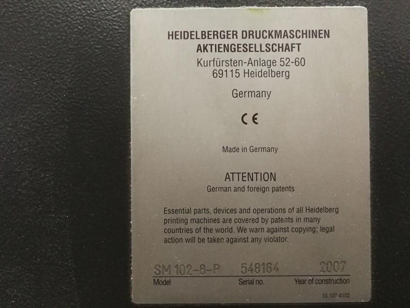 Heidelberg SM 102-8-P with CutStar 105/108(Optional)