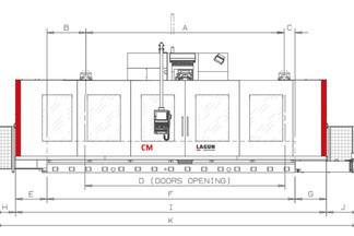 Lagun GBM CM8 X 8000 Y 1200 Z 1500 ATC 60 Pos. Autoindex 2.5 Gr