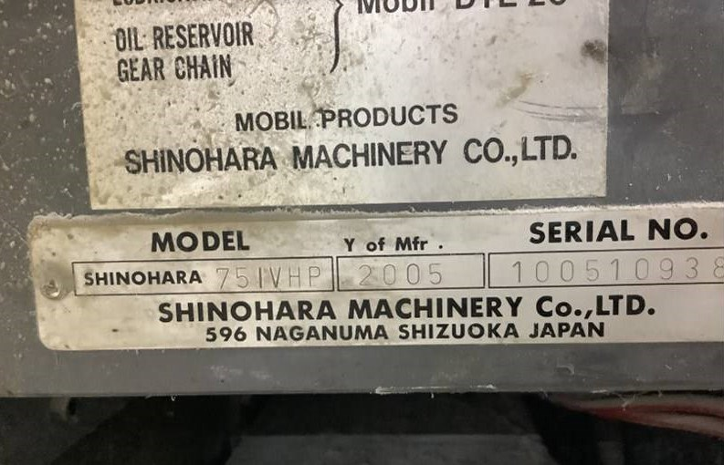 2005 Shinohara 75 IV HP