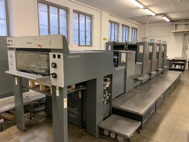 Show details for Heidelberg SM 74-4 + coater Year 1999