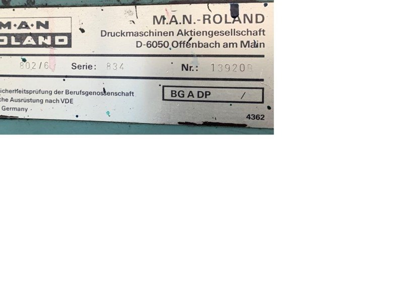 Manroland 802-6