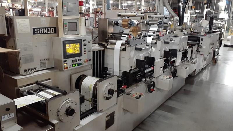 Sanjo P03 Offset label press 10 includes plate processor