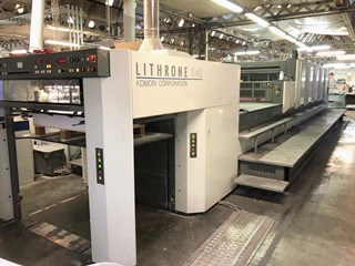 Komori Lithrone LS 540+C (H) Offset de pliegos