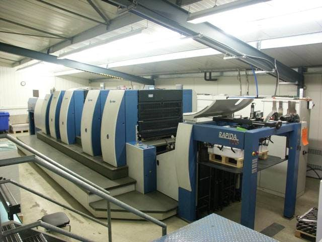 Show details for KBA Rapida 105-4+SW-P40 + Perforating  Unit