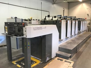 Komori Lithrone LS829P+C Sheet Fed