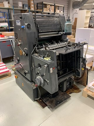 Package: GTO 46 Nr+Perf and several Tiegels Letterpress
