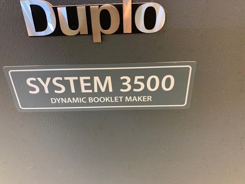 Duplo DCS-10/20 Collator and System 3500 Booklet Maker