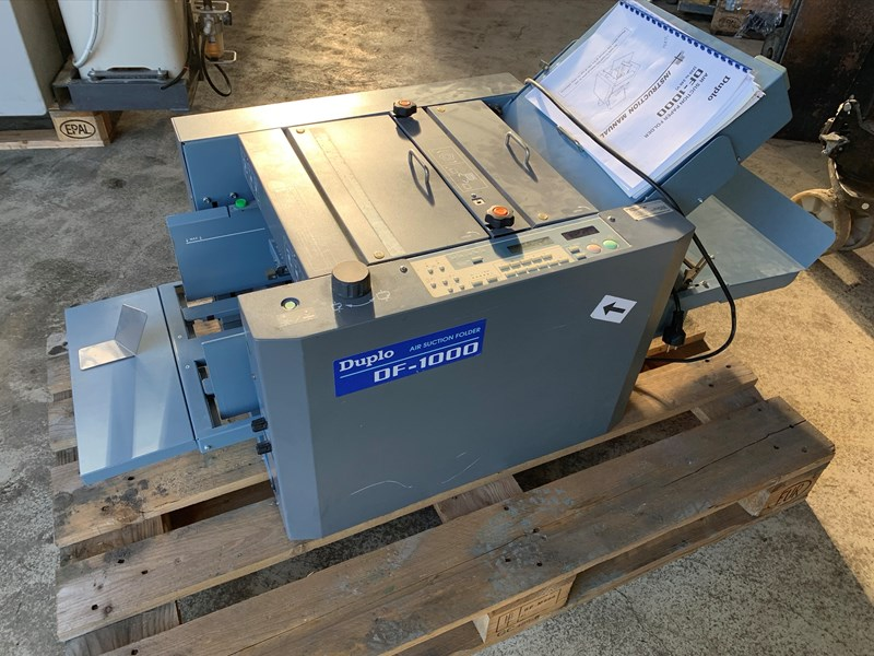 Duplo DF 1000 Air Suction Paper Folder