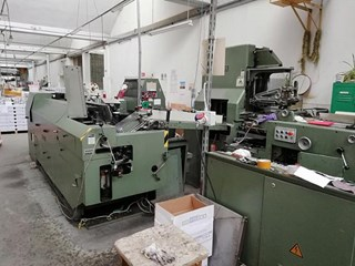KOLBUS   1987  BF40 CASING-IN LINE WITH BOOK BLOCK PREPARATION LINE Hard Cover Book production
