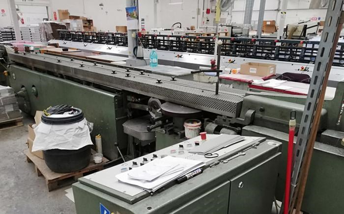 KOLBUS   1987  BF40 CASING-IN LINE WITH BOOK BLOCK PREPARATION LINE