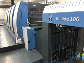 KBA Rapida 106-5 LED UV Sheet Fed