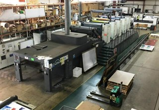 Man Roland R905-8 with Epic Coater Gebrauchte Bogenoffsetmaschinen