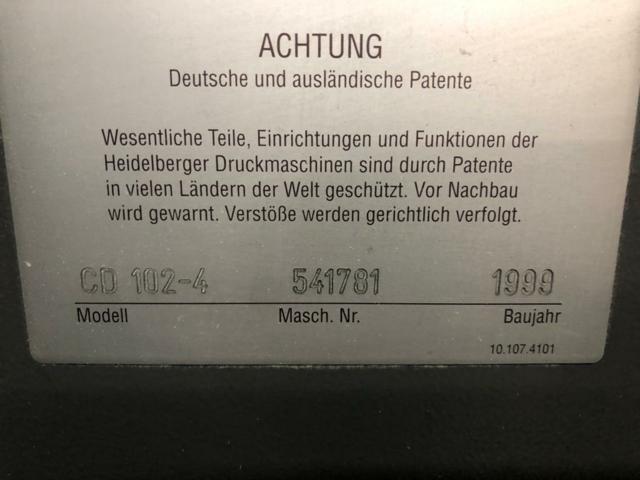 HEIDELBERG CD102-4