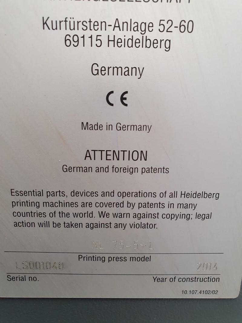 Heidelberg XL 75-5+L