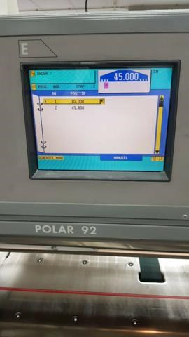 POLAR GUILLOTINE 92 E