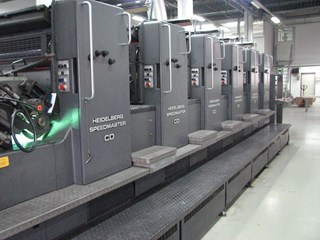 Heidelberg CD 102-6 + coating unit