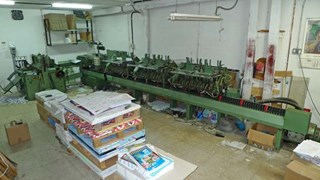 Stitching Line Muller Martini 1509 Age 1980. Saddlestitchers