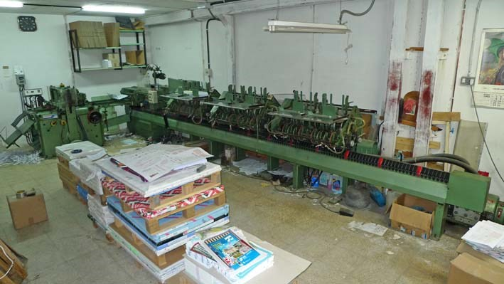 Show details for Stitching Line Muller Martini 1509 Age 1980.