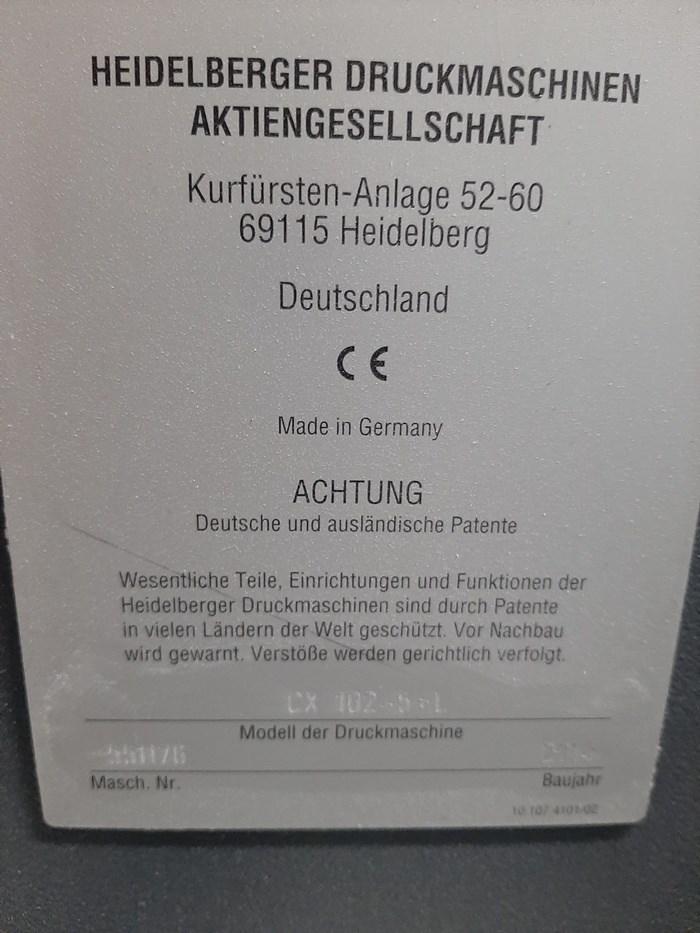 Heidelberg CX 102-5+LX