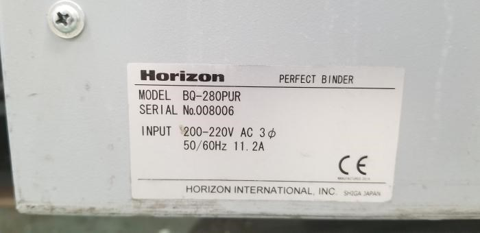 HORIZON  BQ 280 PUR PERFECT BINDER