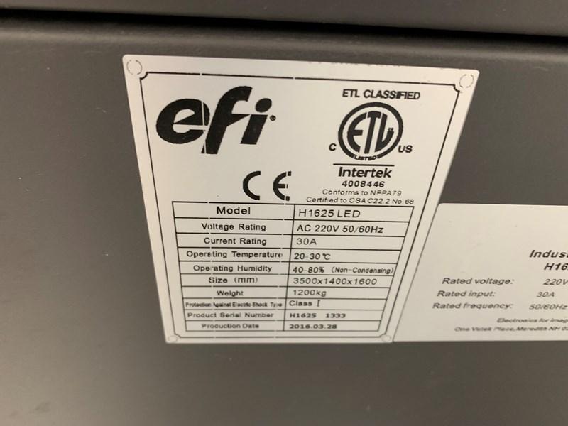 2016  EFI Vutek H1625