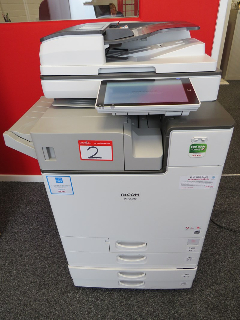 2019  Ricoh IM C5500 Full Colour Multifunctional All-in-One Printer