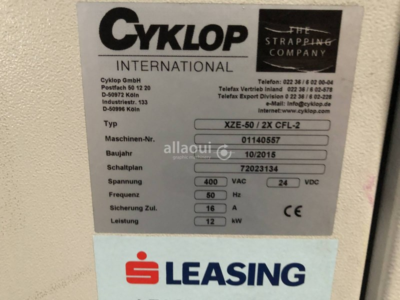 Cyklop XZE-50 / 2x CFL-2 / CSA-Twin packing line