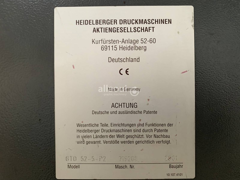 Heidelberg GTO 52-5-P2