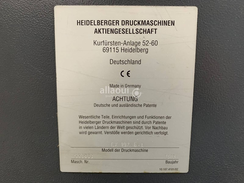 Heidelberg CX 102-6+LX