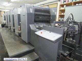 Heidelberg SM 74-5  Gebrauchte Bogenoffsetmaschinen