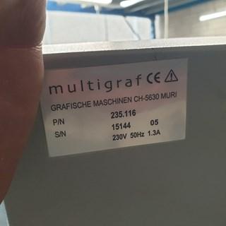 Multigraf  EF 110  Creasers/Slitters/Scorers/Perforators