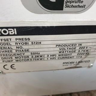 Ryobi 512H Machines offset à feuilles