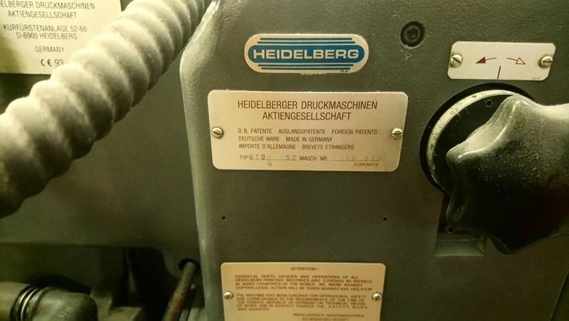 Heidelberg GTO52 + 1 Colour