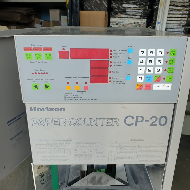 Show details for Horizon Paper Counter CP 20